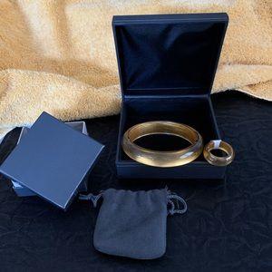 ITALIAN DESIGNER-14kt Gold Infused Ring & Bracelet